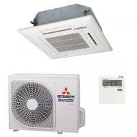 Mitsubishi Heavy Klimaanlage FDTC 25 VF/SRC 25 ZMX-S mit 2,55 kW Kühlen inkl. Paneel und FB