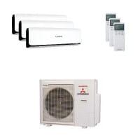 Mitsubishi Heavy Trio-Split Klimaanlage 7,1 kW : 1x2,5 kW + 1x3,5 kW + 1x6 kW SRK ZSX-WB+SCM71ZM-S