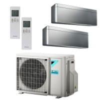 Daikin Klimaanlage Stylish 1x FTXA25BS + 1x FTXA35BS + Außengerät 2MXM50M9 5,0 kW Kühlen - R32