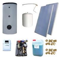 Sunex Solarset-1 Warmwasserspeicher 300L/2x Sonnenkollektor 2.51