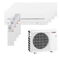 Mitsubishi Electric 3xMSZ-AP20VG+1xMSZ-AP35VG+MXZ-4F80VF3 - 8,6/8,8 kW Kühlen/Heizen - R32