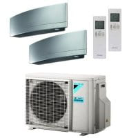 Daikin Klimaanlage Emura 1x FTXJ20MS + 1x FTXJ25MS + Außengerät 2MXM50M9 4,5 kW Kühlen - R32
