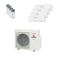 Mitsubishi Heavy Quattro-Split Klimaanlage 8 kW Kühlen 4x 2,5 kW SRKZS-W+SCM80ZS-W