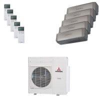 Mitsubishi Heavy Fünffach-Split Klimaanlage 10 kW 1x 2 + 4x 2,5 kW SRK ZS-WT+SCM 100 ZM-S