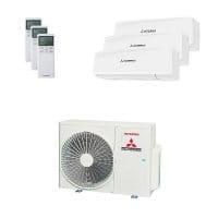 Mitsubishi Heavy Trio-Split Klimaanlage 6 kW Kühlen 1x 2 kW + 1x 2,5 kW + 1x 5 kW SRKZS-W+SCM60ZS-W