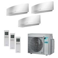 Daikin Trio-Split-Klimaanlage Emura 1x FTXJ20MW + 1x FTXJ25MW + 1x FTXJ35MW + 3MXM52N 5,2 kW Kühlen