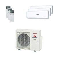 Mitsubishi Heavy Trio-Split Klimaanlage 8 kW: 2x 2,5 kW + 1x 5 kW SRK ZSX-W + SCM 80 ZS-W