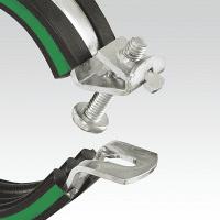 Schraubrohrschelle JUNIOR DÄMMGULAST grün, M8/M10, 12 mm (6-15 mm), vz