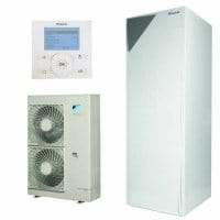 DAIKIN Altherma Wärmepumpen-Set EHVX16S26CB9W+ERLQ014CW1+EKRUCBL1 260L 14,5 /12,7 kW Heizen+Kühlen
