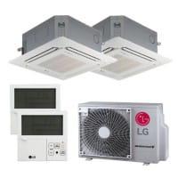 LG Duo Split Klimaanlage 1x MT06R.NR0+1x CT09F.NR0+1x MU2R17.OL0 2x PREMTB001 4,1 kW Kühlen