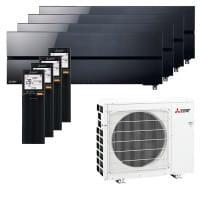Mitsubishi Electric 2xMSZ-LN18VG2B+2xMSZ-LN25VG2B+MXZ-4F72VF3 - 7,2/ 8,0 kW Kühlen/Heizen - R32