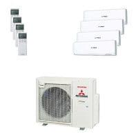 Mitsubishi Heavy Quattro-Split Klimaanlage 8 kW: 2x 2 kW + 2x 2,5 kW SRK ZSX-W + SCM 80 ZS-W