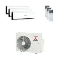 Mitsubishi Heavy Trio-Split Klimaanlage mit 6 kW Kühlen: 3x 3,5 kW SRK ZSX-WB + SCM 60 ZS-W