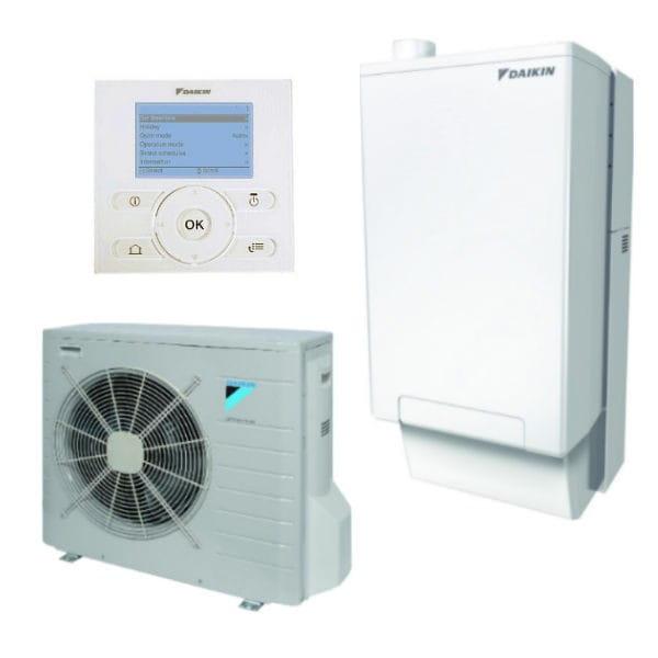 DAIKIN Hybrid-Set EHYHBX08AV32+EVLQ08CV3+EHYKOMB33AA2+EKRUCBL1/7,40 kW/27kW Hybr.+Gas+Heizen+Kühlen