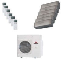 Mitsubishi Heavy Sechsfach-Split Klimaanlage 12,5 kW Kühlen: 2x 2 + 4x 2,5 + SRKZS-WT + SCM125ZM-S