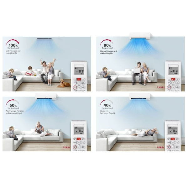 LG Klimaanlage PC24SQ.NSK + PC24SQ.U24 mit 6,6 kW Kühlleistung/ 7,5 kW Heizleistung