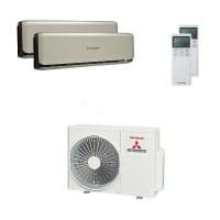 Mitsubishi Heavy Duo-Split Klimaanlage 4 kW 1x 2,5 kW + 1x 3,5 kW SRK ZSX-WT+SCM 40 ZS-W