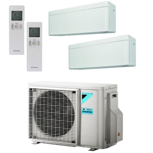 Daikin Klimaanlage Stylish 1x FTXA20AW + 1x FTXA35AW + Außengerät 2MXM40N 4,0 kW Kühlen - R32