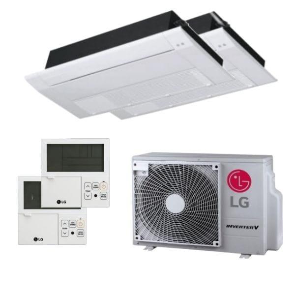 LG Duo Split Klimaanlage 2x MT09R.NU1+1x MU2R17.OL0 inkl.Fernbedienung und Blende 4,7 kW