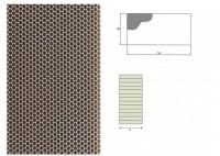 Ausblaswabe mit den Maßen 1250x110x25 mm, für die Kühlmöbel Hersteller Tekso, Carrier, Freor, Epta,