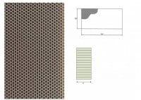 Ausblaswabe mit den Maßen 1250x120x60/10mm, für die Kühlmöbel Hersteller Tekso, Carrier, Freor, Epta