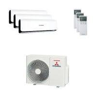 Mitsubishi Heavy Trio-Split Klimaanlage 5 kW : 3x 2,5 kW SRK ZSX-WB + SCM 50 ZS-S