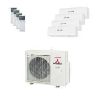 Mitsubishi Heavy Quattro-Split Klimaanlage 8 kW Kühlen 2x 2 kW + 2x 2,5 kW SRKZS-W+SCM80ZS-W
