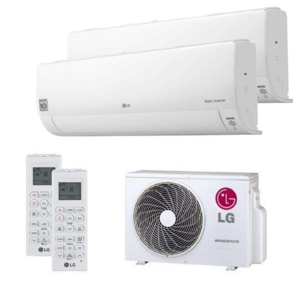 LG Duo Split Klimaanlage 2x DC12RQ.NSJ+1x MU2R17.UL0 2x (PQWRHQ0FDB) 4,7 kW Kühlen - R32