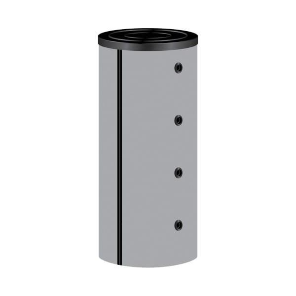 Pufferspeicher P.0200-90-B ohne Wärmetauscher | Muffenanordnung 90° mit Isolierung B