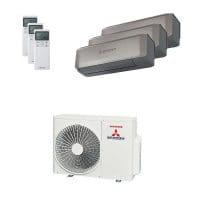 Mitsubishi Heavy Trio-Split 5 kW Kühlen: 1x 2 kW + 1x 2,5 kW + 1x 3,5 kW SRK ZS-WT + SCM 50 ZS-S