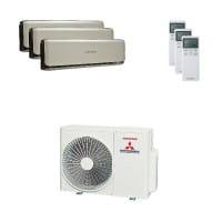 Mitsubishi Heavy Trio-Split Klimaanlage 6 kW Kühlen: 3x 3,5 kW SRK ZSX-WT + SCM 60 ZM-S