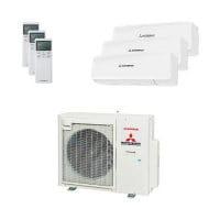 Mitsubishi Heavy Trio-Split Klimaanlage 8 kW: 1x 2,5 kW + 2x 3,5 kW SRK ZS-W + SCM 80 ZS-W