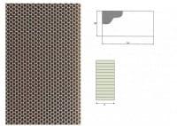 Ausblaswabe mit den Maßen 1250x110x07 mm, für die Kühlmöbel Hersteller Tekso, Carrier, Freor, Epta,