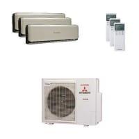 Mitsubishi Heavy Trio-Split Klimaanlage 7,1 kW : 2x 2,5 kW + 1x 3,5 kW SRK ZSX-WT + SCM 71 ZM-S