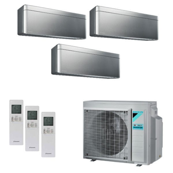 Daikin Klimaanlage Stylish 2x FTXA20BS+1x FTXA35BS+3MXM68N 6,8 kW Kühlen - R32