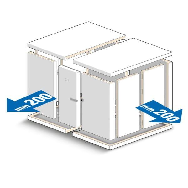 INCOLD MINI Kühlzelle in verschieden Abmessungen von 990mm bis 2590 mm