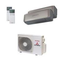 Mitsubishi Heavy Duo-Split Klimaanlage 4 kW 1x 2,5 kW + 1x 3,5 kW SRK ZS-WT+SCM 40 ZS-W