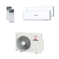 Mitsubishi Heavy Duo-Split Klimaanlage 6 kW: 1x 2,5 kW + 1x 5 kW SRK ZSX-W + SCM 60 ZS-W