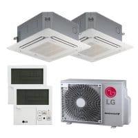 LG Duo Split Klimaanlage 2x CT12F.NR0+1x MU2R17.OL0 2x PREMTB001 inkl.Blenden 4,7 kW Kühlen - R32