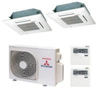 Mitsubishi Heavy Duo-Split Klimaanlage 2x FDTC 25 VF + 1x SCM 40 ZS-S 4 kW Kühlen / 4,5 kW Heizen