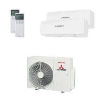 Mitsubishi Heavy Duo-Split Klimaanlage 6 kW: 1x 3,5 kW + 1x 5 kW SRK ZS-W + SCM 60 ZS-W