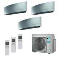 Daikin Trio-Split-Klimaanlage Emura 2x FTXJ25MS + 1x FTXJ50MS + 3MXM68N 6,8 kW Kühlen