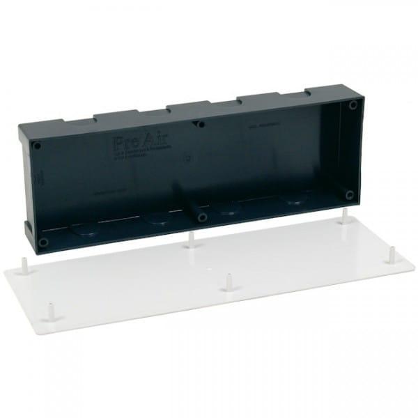 Einbaukasten PRE-AIR Abmessungen: 350x120x50 mm Farbe: schwarz mit Deckel