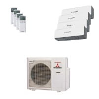 Mitsubishi Heavy Quattro-Split Klimaanlage mit 8 kW : 2x 2 + 2x 2,5 kW SRK ZS-WB + SCM 80 ZM-S