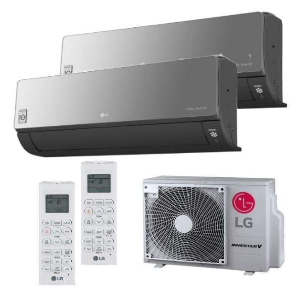 LG Duo Split Klimaanlage Artcool Energy 1xAC12BT+1xAC09BT+ MU2R17.UL0 2x(PQWRHQ0FDB) 4,7 kW Kühlen