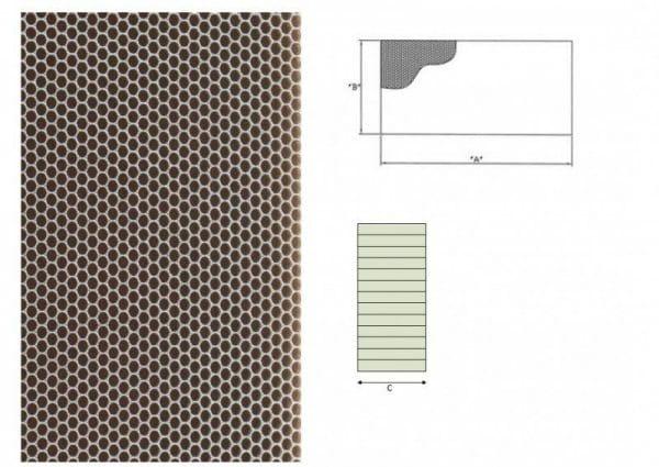 Ausblaswabe mit den Maßen 1250x200x20 mm, für die Kühlmöbel Hersteller Tekso, Carrier, Freor, Epta,