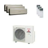 Mitsubishi Heavy Trio-Split Klimaanlage mit 7,1 kW : 3x 3,5 kW SRK ZSX-WT + SCM 71 ZS-W