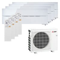 Mitsubishi Electric 2xMSZ-LN18VG2W+2xMSZ-LN25VG2W+MXZ-4F72VF3 - 7,2/ 8,0 kW Kühlen/Heizen - R32