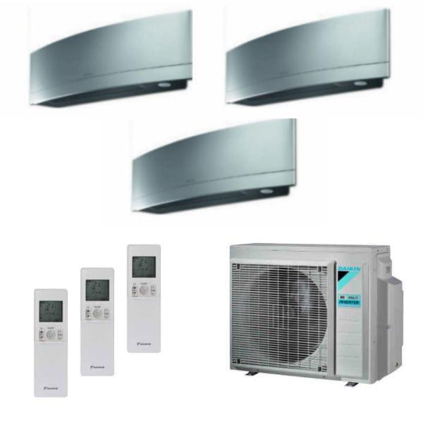 Daikin Trio-Split-Klimaanlage Emura 1x FTXJ25MS + 1x FTXJ35MS + 1x FTXJ50MS + 3MXM68N 6,8 kW Kühlen