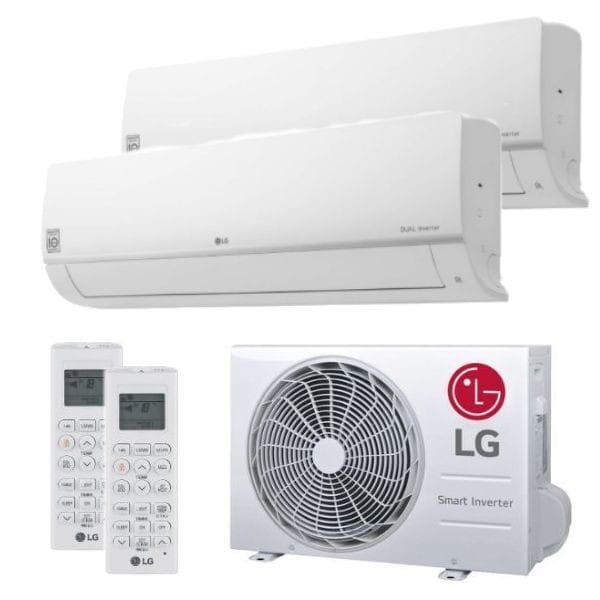 LG Duo Split Klimaanlage 2x PC09SQ.NSJ +1x MU2R15.OL0 2x (PQWRHQ0FDB) 4,7 kW Kühlen - R32